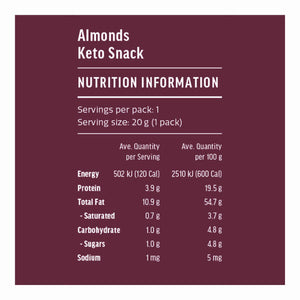 Keto Snack | Almonds 20g