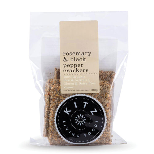 Crackers | Rosemary & Black Pepper 100g