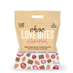 Choc Love Bites | Milk Choc with Crushed Almonds 36g