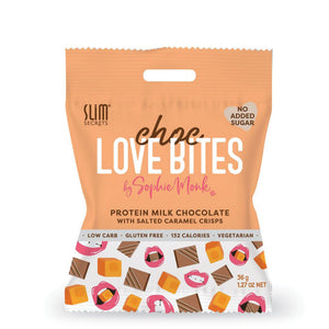 Choc Love Bites | Milk Choc with Salted Caramel Crisps 36g
