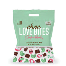 Choc Love Bites | Dark Choc with Mint Crisps 36g