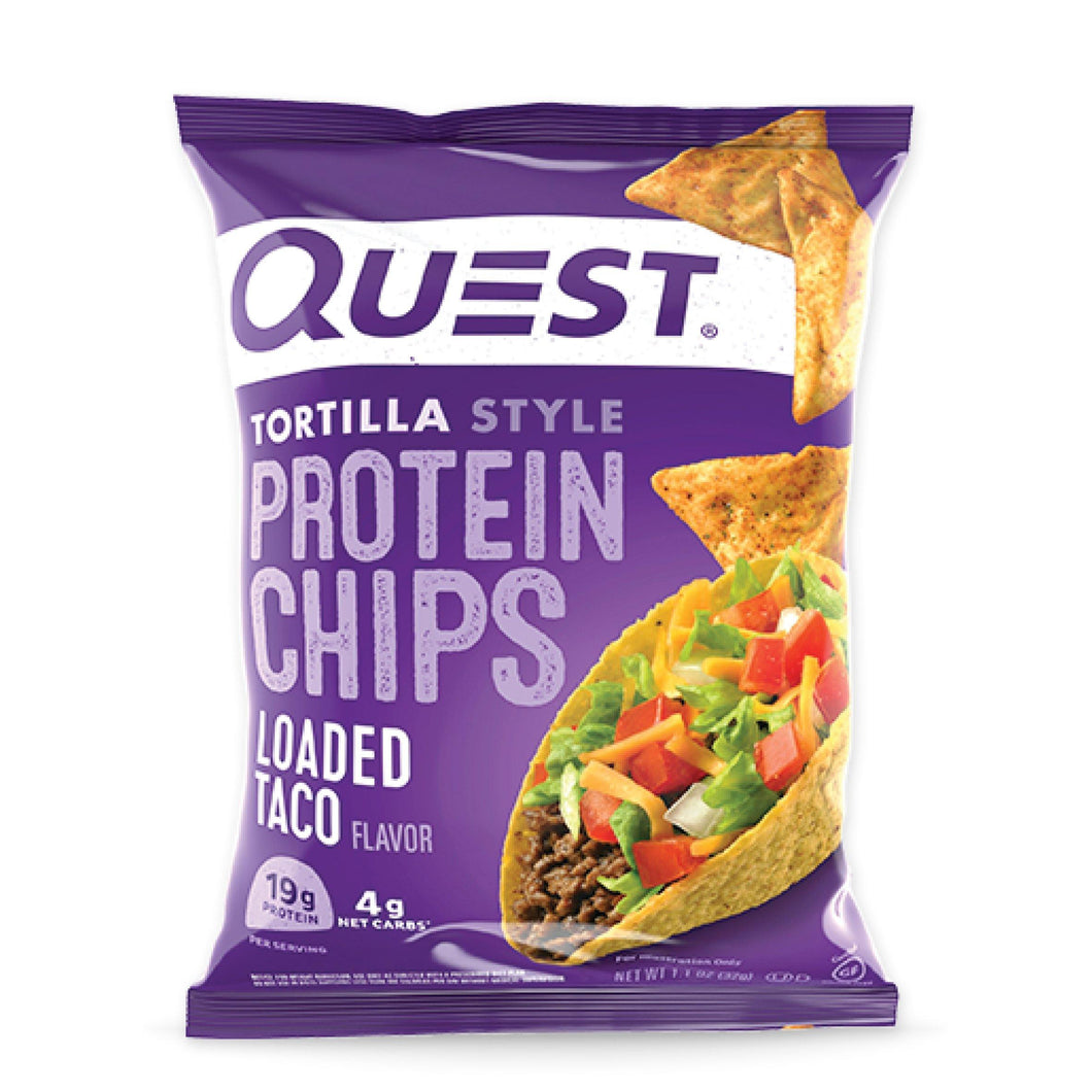 Tortilla Style Protein Chips | Loaded Taco 32g