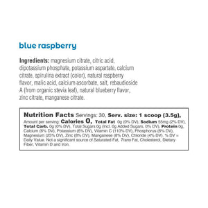 Electrolyte Drink Mix | Blue Raspberry Tub 30 Servings