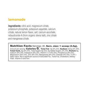 Electrolyte Drink Mix | Lemonade Tub 30 Servings - Keto Lane