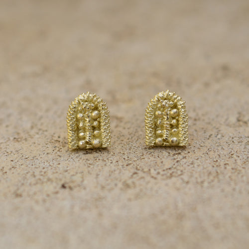 Sacred Palm Stud Earrings