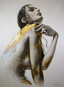 11:11 Ascendance - Angelic beauty in gold. Limited Ed Print
