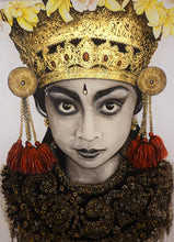 Bali Gold - portrait Artwork - Original.