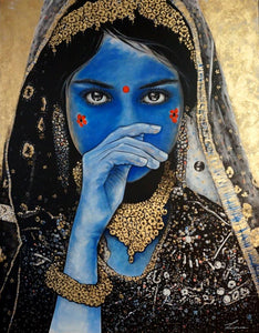 Spirit of India - painting of Indian girl. SOLD