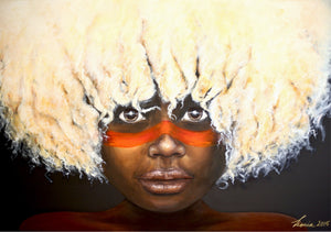 Afro Child - indigenous Australian aboriginal child portrait art - Limited Edition Print.