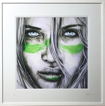Lucky Country (Green Zinc) - Aussie Girl portrait Art Print - Green