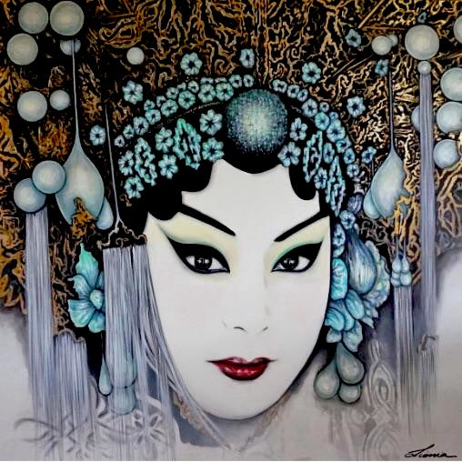 Drama Queen - Chinese Opera original portrait Art.