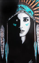 She Wolf - Native American Indian girl. Ltd Ed Print - framed / unframed