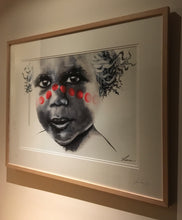 Red Heart. Aboriginal child. Ltd Edition Print - framed / unframed