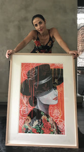 Ole' - Beautiful Spanish woman portrait. Limited Edition Print - framed or unframed