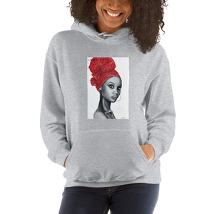 Angola Red -Original Art by Lionia Hoodie