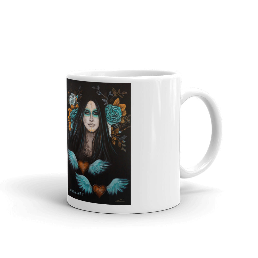 Keeper of Golden Hearts - Original Art by Lionia Mug