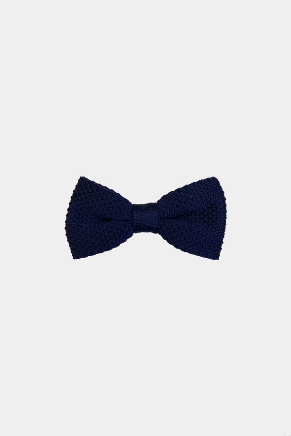 Noeud papillon tricot navy