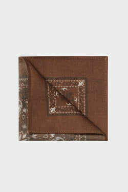 Pochette en laine marron arabesque