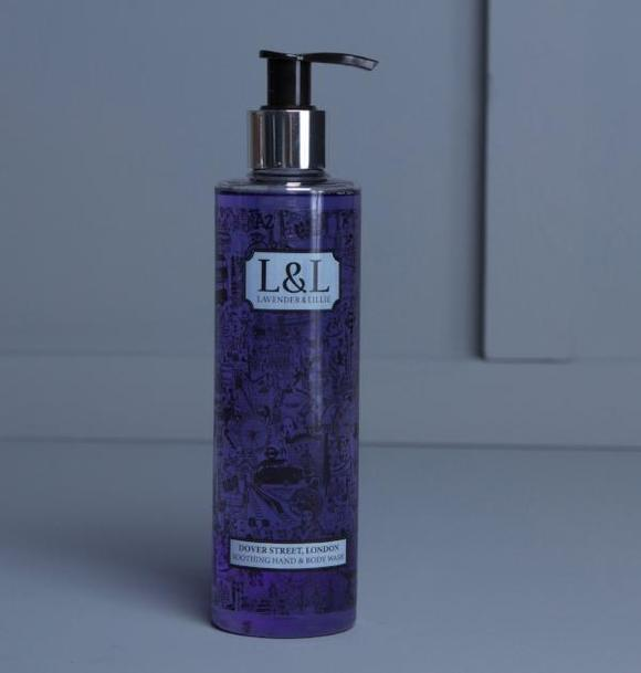 Image of bottle of Dover Street body wash by Lavender & Lillie