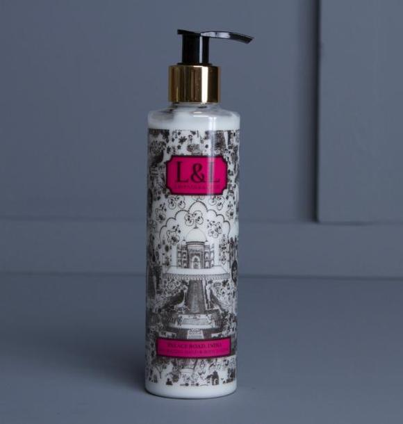 Image of bottle of Palace Road India body lotion by Lavender & Lillie