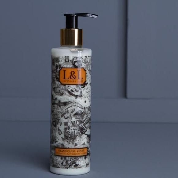 Image of bottle of Grand Canal Venice body lotion by Lavender & Lillie