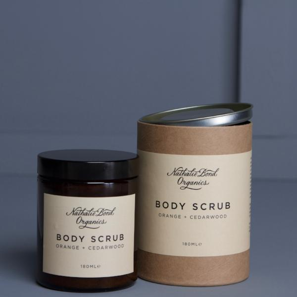 Orange & cedarwood body scrub