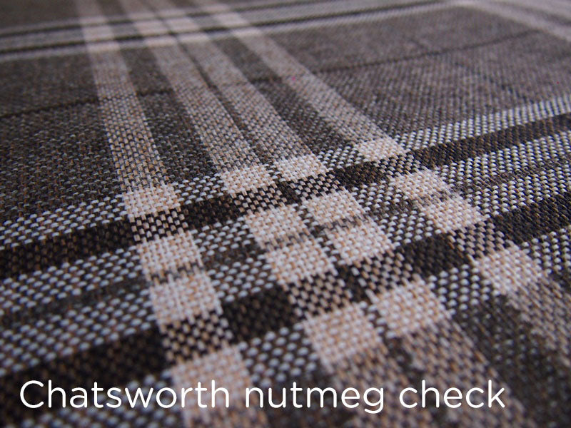 Spare dog bed cover - nutmeg check