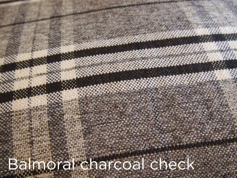 Spare dog bed cover - charcoal check