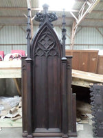 French Antique Religious Gothic Church Panels 1700s