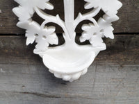 French Vintage Alabaster Holy Water Font