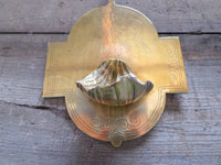French Antique Bronze Holy Water Font Signed A Chertier (1825-1890) front closeup