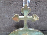 French Antique Bronze Holy Water Font Signed A Chertier (1825-1890) cross