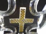 Crystal & Gilt Cristallo-Cerame Holy Water Font cross