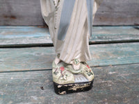 French antique Plaster statue Mary Lourdes Art Deco 30s