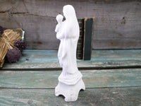 Antique Virgin Mary and baby Jesus Porcelain Bisque Biscuit Statue back