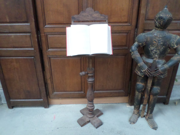French Antique Religious Church Lectern Lutrin front