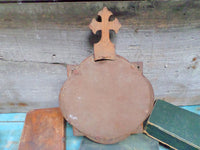Antique Way Of the Cross VI Wood & Glass back