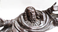 Antique Wooden Sculpture God the Father 1700s front