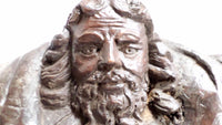 Antique Wooden Sculpture God the Father 1700s head 2