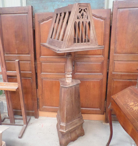 French Antique Religious Abbey Lectern Lutrin Gothic 1800s