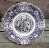 French Antique Bordeaux Viellard Collectible Bible Plate Ham and Noah
