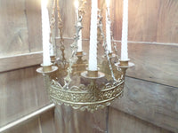 Antique French Church gothic Lustre Chandelier 10