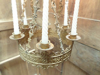 Antique French Church gothic Lustre Chandelier v584 Free Shipping