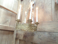 Antique French Church gothic Lustre Chandelier 12