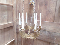 Antique French Church gothic Lustre Chandelier 2