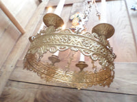 Antique French Church gothic Lustre Chandelier 14