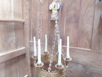 Antique French Church gothic Lustre Chandelier 16