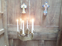 Antique French Church gothic Lustre Chandelier