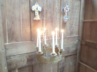 Antique French Church gothic Lustre Chandelier 3