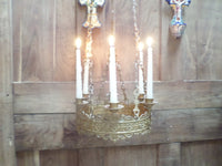 Antique French Church gothic Lustre Chandelier 4